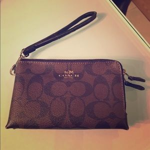 Brown Coach purse and wallet